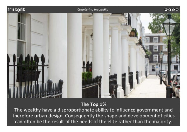 The  Top  1%     The  wealthy  have  a  dispropor3onate  ability  to  influence  government  and...