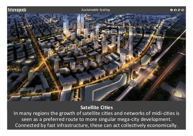Satellite  Ci-es   In  many  regions  the  growth  of  satellite  ci3es  and  networks  of  midi...