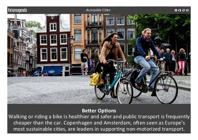 BeMer  Op-ons   Walking  or  riding  a  bike  is  healthier  and  safer  and  public  transport...