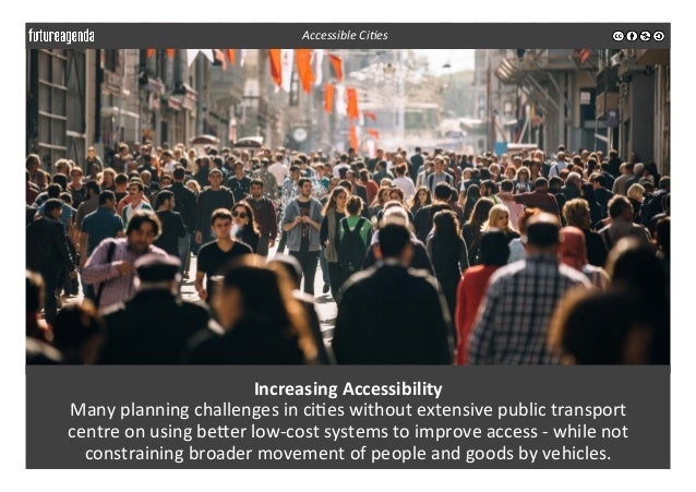 Increasing  Accessibility   Many  planning  challenges  in  ci3es  without  extensive  public  transpo...