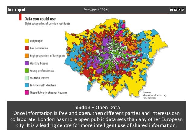 London  –  Open  Data     Once  informa3on  is  free  and  open,  then  different  par3es  and...