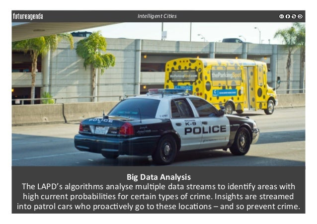 Big  Data  Analysis   The  LAPD's  algorithms  analyse  mul3ple  data  streams  to  iden3fy  areas...