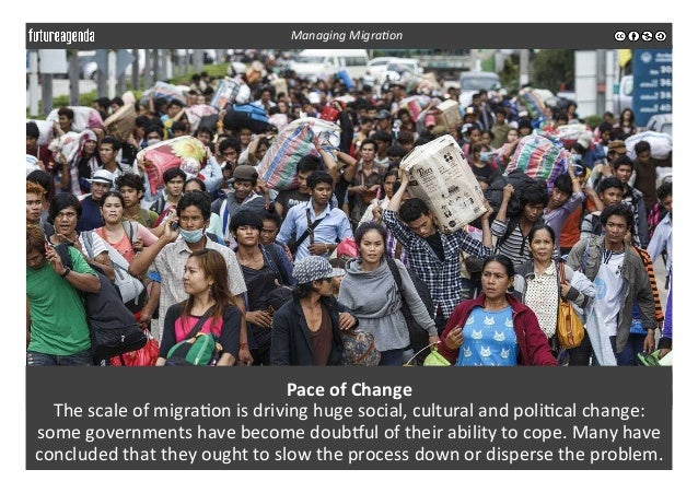 Pace  of  Change   The  scale  of  migra3on  is  driving  huge  social,  cultural  and  poli3cal...