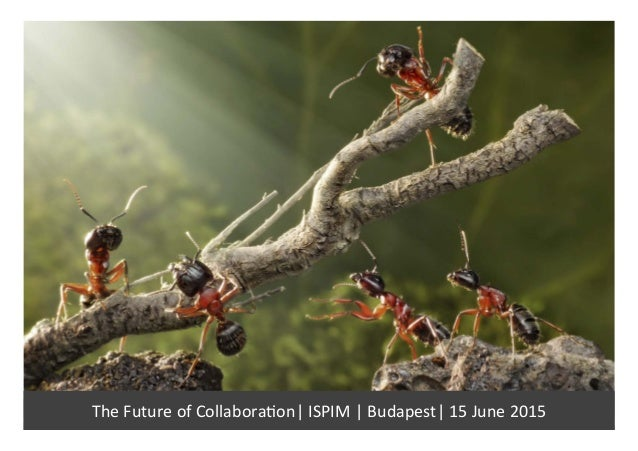 The	   Future	   of	   Collabora/on|	   ISPIM	   |	   Budapest|	   15	   June	   2015