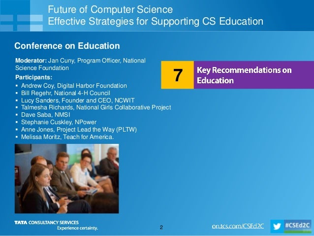 Future of Computer Science - Key Recommendations on Education  Slide 2