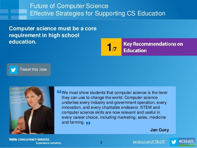 Future of Computer Science - Key Recommendations on Education  Slide 3