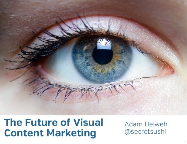 The Future of Visual   Adam HelwehContent Marketing      @secretsushi                                      1