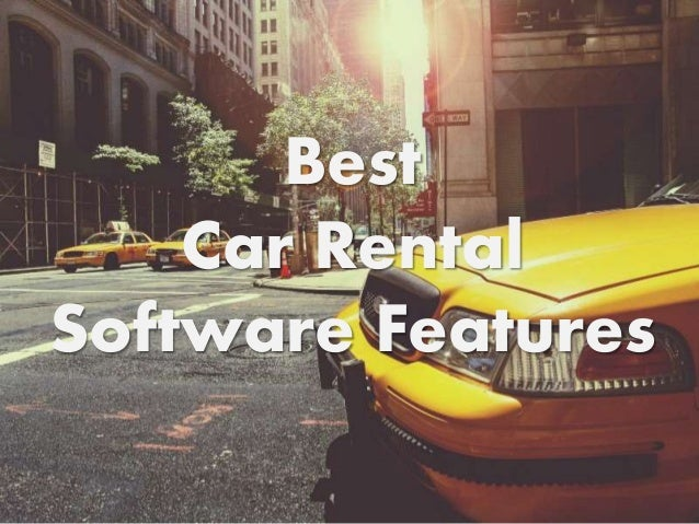 Best Car Rental Software 2017