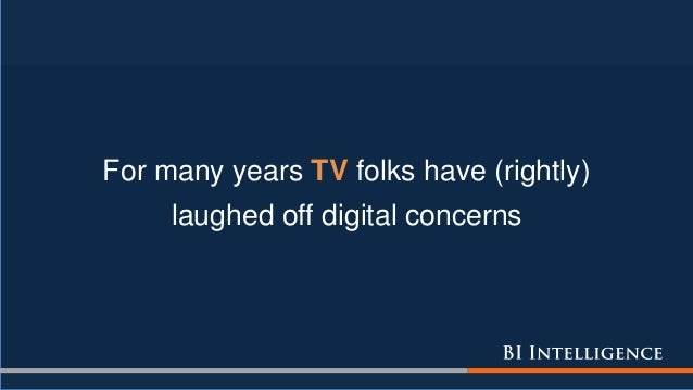 For many years TV folks have (rightly) laughed off digital concerns