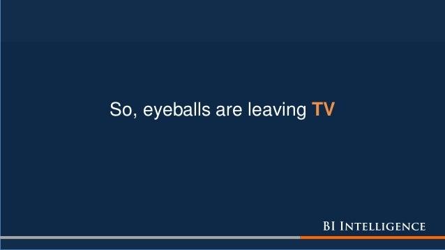 So, eyeballs are leaving TV