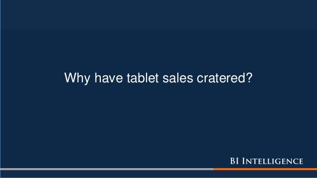 Why have tablet sales cratered?