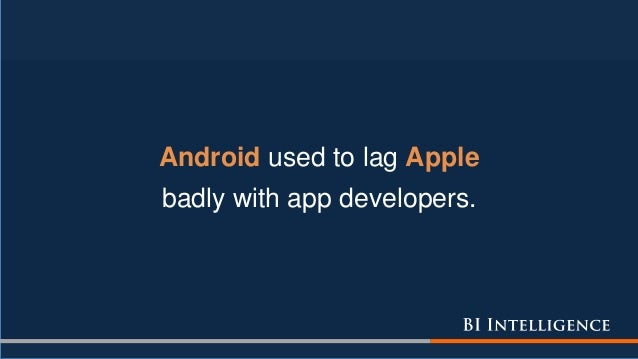 Android used to lag Apple badly with app developers.