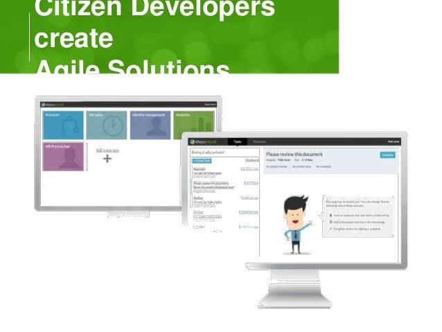 Citizen Developers  create  Agile Solutions