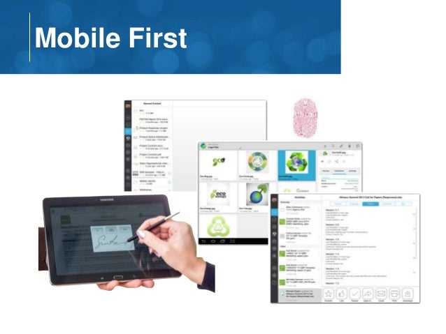 Mobile First  Activities
