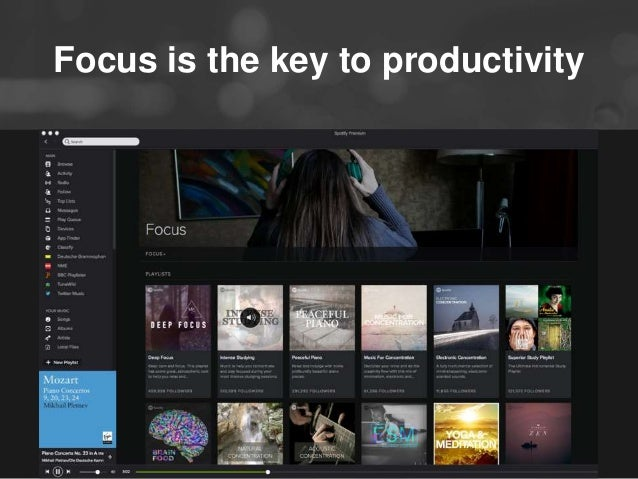 Focus is the key to productivity