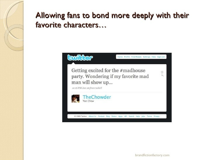 Allowing fans to bond more deeply with their favorite characters… brandfictionfactory.com