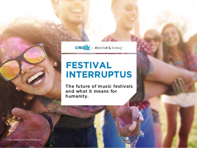 The future of music festivals and what it means for humanity. FESTIVAL INTERRUPTUS + Image: gpointstudio/Shutterstock.com