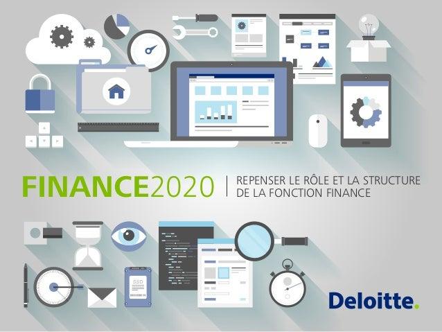 REPENSER LE RÔLE ET LA STRUCTURE DE LA FONCTION FINANCEFINANCE2020