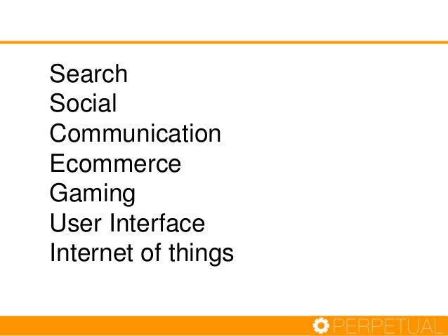 Search Social Communication Ecommerce Gaming User Interface Internet of things