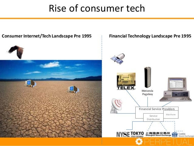 Rise of consumer tech Consumer Internet/Tech Landscape Pre 1995  Financial Technology Landscape Pre 1995  Motorola Pageboy...