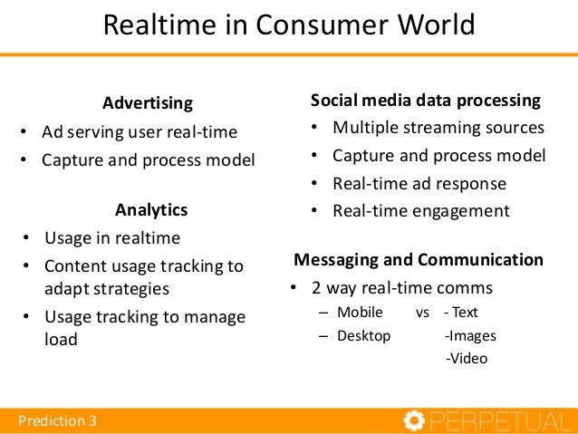 Realtime in finance Use-cases – Exchange streaming pricing – Reference data access and display – Liquidity analysis & risk...