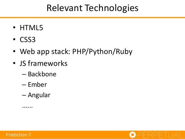 Technologies • Game theory • iOS/Android/Windows Phone • ePub adoption  Prediction 8