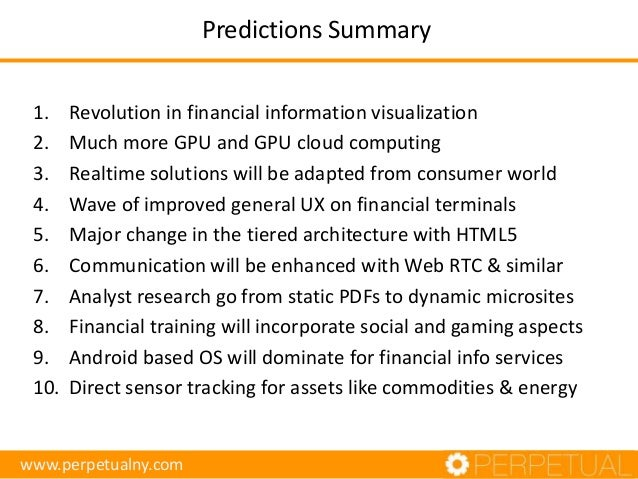The Future of Financial Information Services