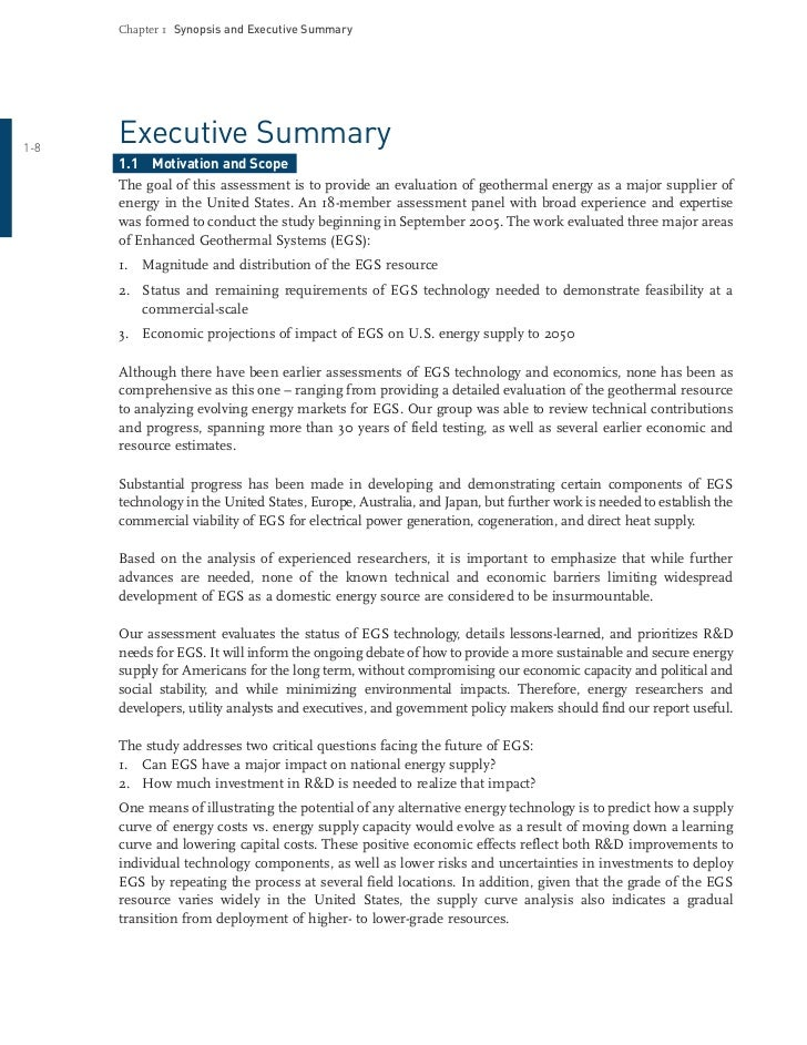 an overview of geothermal energy essay 1 overview of renewable energy potential of india october 2006 peter meisen president, global energy network institute (geni.