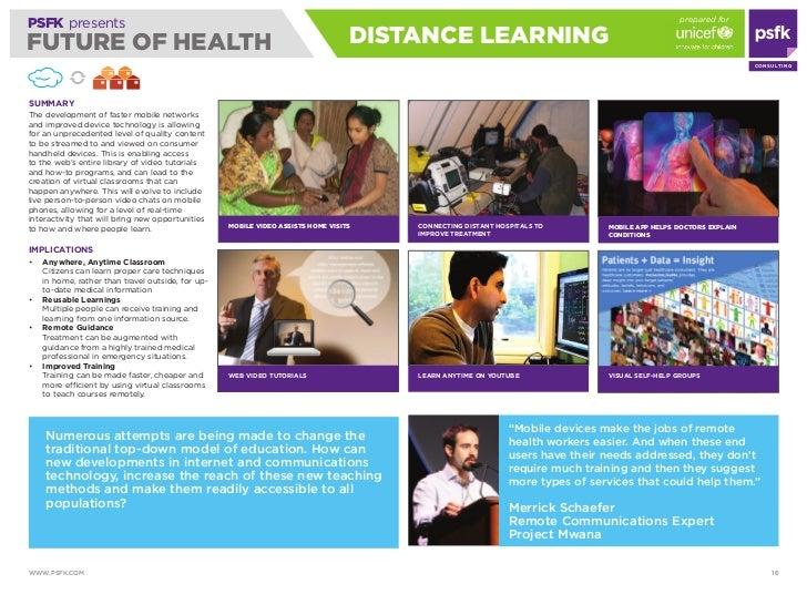 prepared for PSFK presents FUTURE OF HEALTH                                                                   diSTANCE LEA...