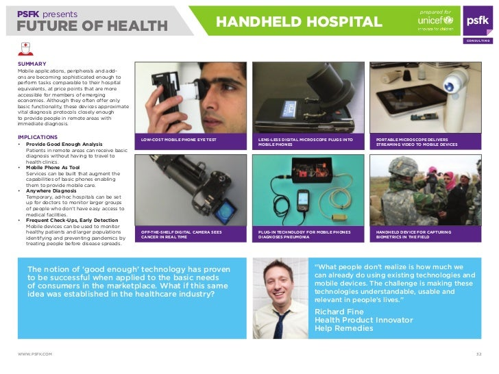 prepared for PSFK presents FUTURE OF HEALTH                                                                HANdHELd HOSPiT...