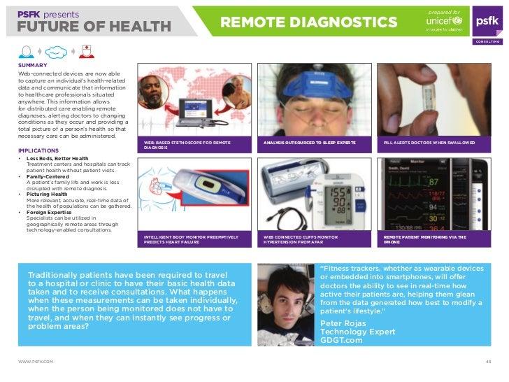 prepared for PSFK presents FUTURE OF HEALTH                                                               REmOTE diAGNOSTi...