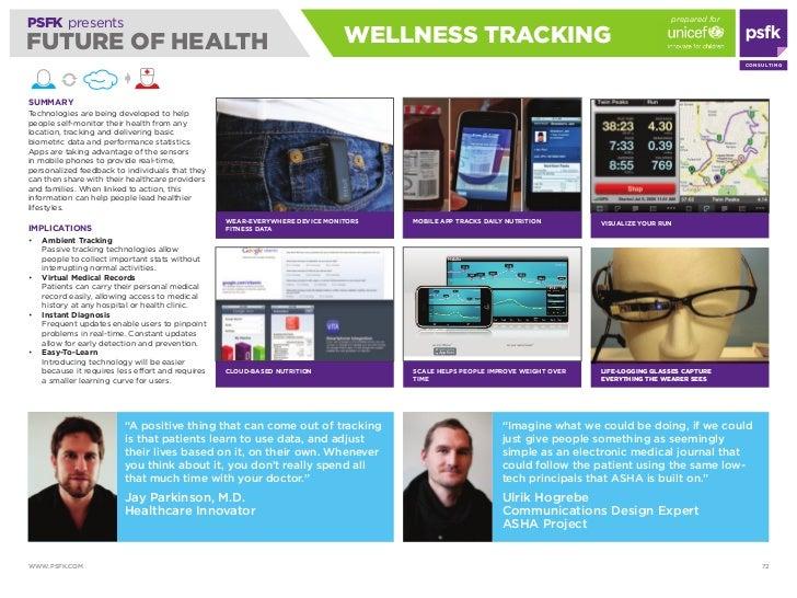 prepared for PSFK presents FUTURE OF HEALTH                                                               wELLNESS TRACKiN...