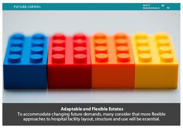 Adaptable and Flexible Estates To accommodate changing future demands, many consider that more flexible approaches to hosp...