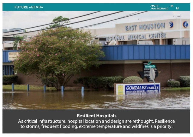 Resilient Hospitals As critical infrastructure, hospital location and design are rethought. Resilience to storms, frequent...