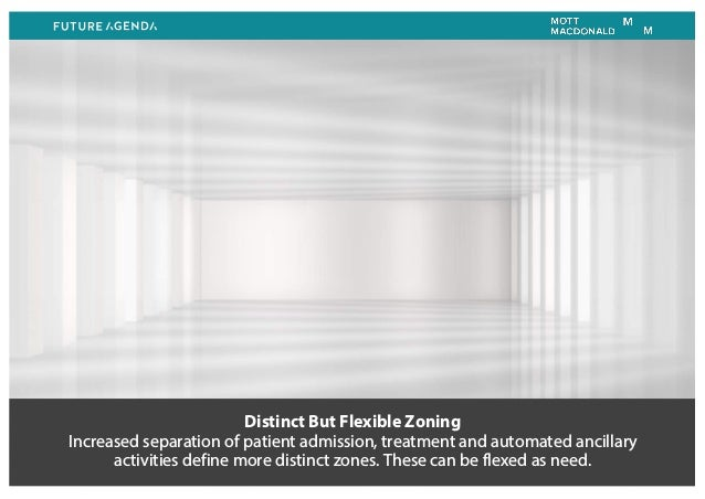 Distinct But Flexible Zoning Increased separation of patient admission, treatment and automated ancillary activities defin...