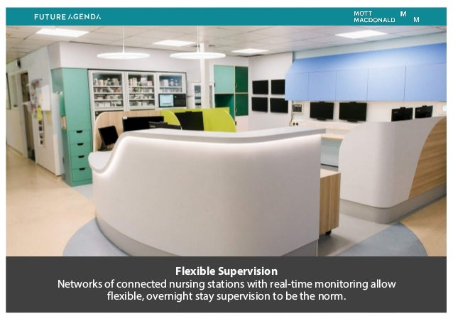 Flexible Supervision Networks of connected nursing stations with real-time monitoring allow flexible, overnight stay super...