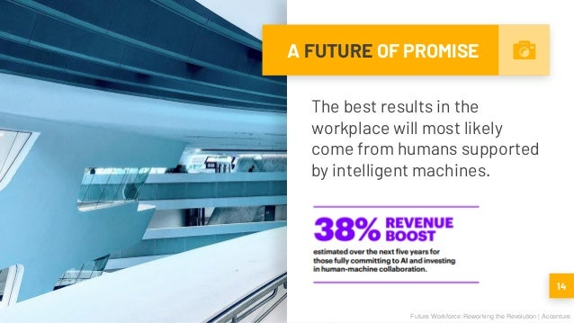 A FUTURE OF PROMISE The best results in the workplace will most likely come from humans supported by intelligent machines....