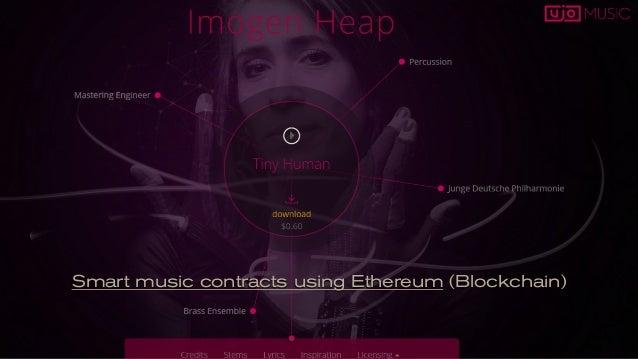 Smart music contracts using Ethereum (Blockchain)