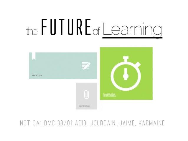 the FUTUREof Learning NCT CA1 DMC 3B/01 Adib, Jourdain, Jaime, Karmaine