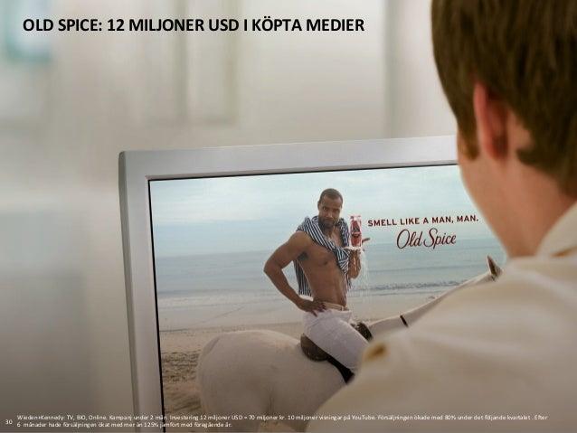 OLD  SPICE:  12  MILJONER  USD  I  KÖPTA  MEDIER   30   Wieden+Kennedy:  TV,  BIO,  Online.  Kam...