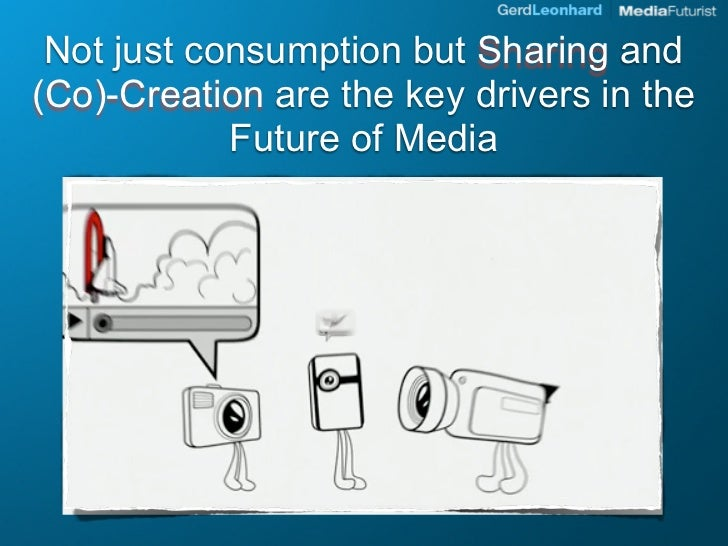 Not just consumption but Sharing and (Co)-Creation are the key drivers in the             Future of Media