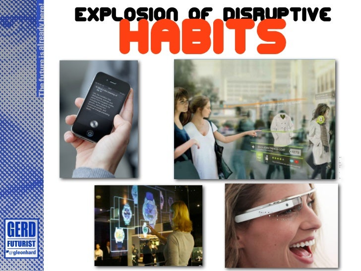 The future is already here!                              Explosion of disruptive                                 habits