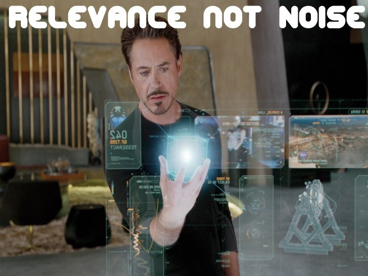 The future is already here!                  Relevance not Noise