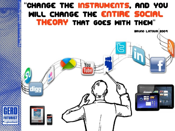 """Change the instruments, and youThe future is already here!                               will change the entire Social   ..."