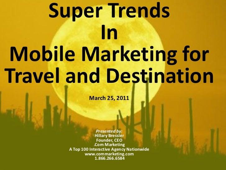 Super Trends for Mobile Marketing