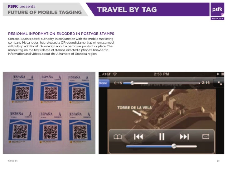PSFK presents FUTURE OF MOBILE TAGGING                                        TRAVEL BY TAG                               ...