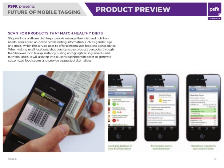 PSFK presents FUTURE OF MOBILE TAGGING                                        PRODUCT PREVIEW                             ...