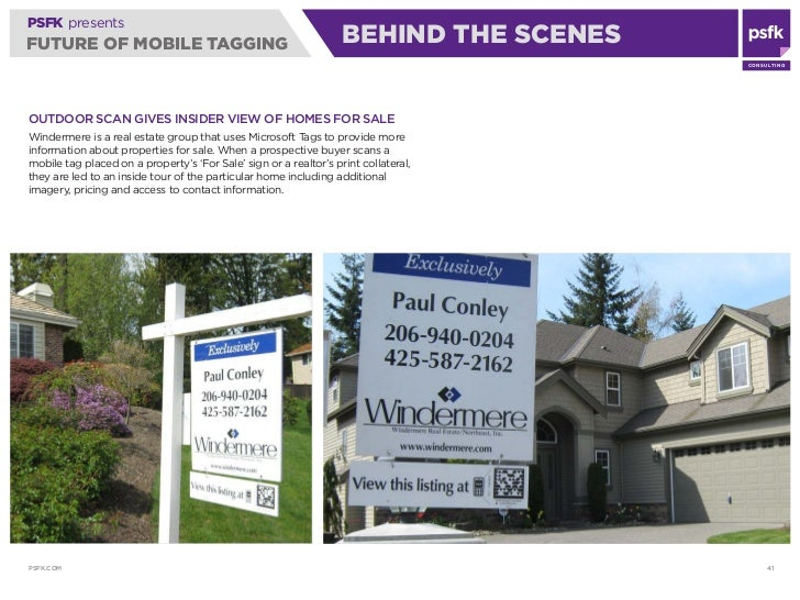 PSFK presents FUTURE OF MOBILE TAGGING                                           BEHIND THE SCENES                        ...