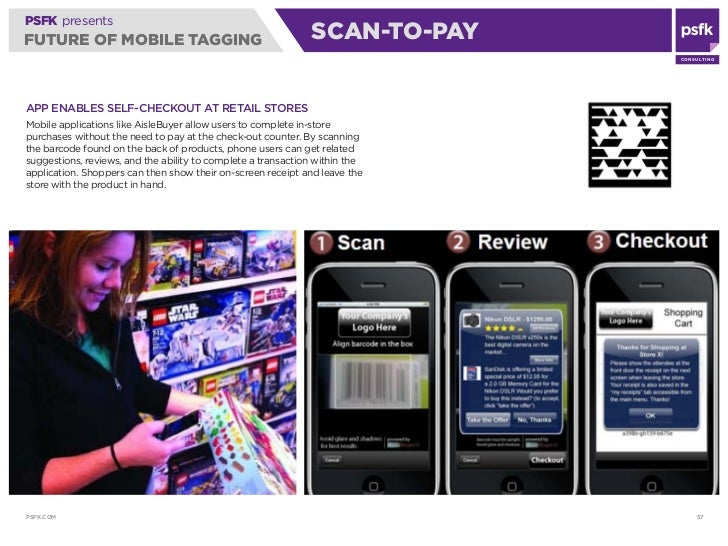 PSFK presents FUTURE OF MOBILE TAGGING                                      SCAN-TO-PAY                                   ...