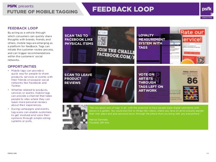 PSFK presents FUTURE OF MOBILE TAGGING                                FEEDBACK LOOP                                       ...
